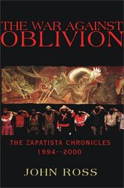 Cover of: The War Against Oblivion by John Ross