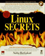Cover of: Linux secrets by Nabajyoti Barkakati