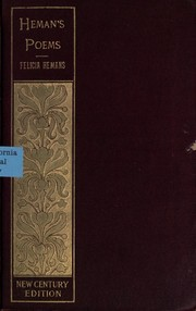 Cover of: Poems | Felicia Dorothea Browne Hemans