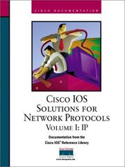 Cover of: CISCO IOS Solutions for Network Protocols Volume I by Inc. Cisco Systems