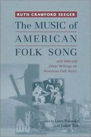 cover of  the music of american folk song and selected other writings on