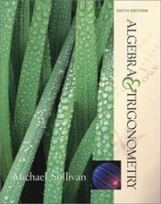 Cover of: Algebra & trigonometry by Sullivan, Michael
