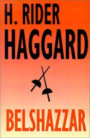 Cover of: Belshazzar by H. Rider Haggard