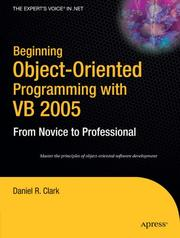 Cover of: Beginning Object-Oriented Programming with VB 2005 by Daniel R. Clark