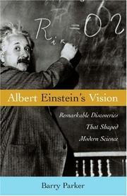 Cover of: Albert Einstein&#39;s Vision by Barry R. Parker