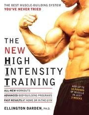 Cover of: The New High Intensity Training by Ellington Darden
