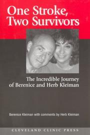 Cover of: One stroke, two survivors by Berenice Kleiman