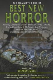 Cover of: The Mammoth Book of Best New Horror by Stephen Jones