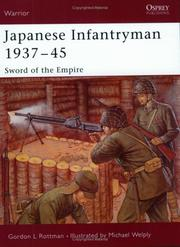 Cover of: Japanese Infantryman 1937-45 by Gordon Rottman
