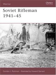 Cover of: Soviet Rifleman 1941-45 (Warrior) by Gordon Rottman