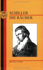 Cover of: Räuber by Friedrich Schiller