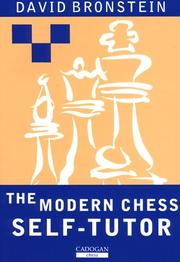 Cover of: Modern Chess Self-Tutor by David Bronstein