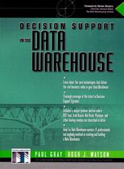 Cover of: Decision support in the data warehouse by Gray, Paul