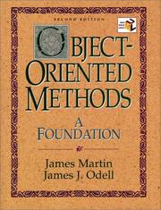 Cover of: Object-oriented methods by James Martin