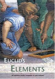 Cover of: Elementos de la geometria by Euclid