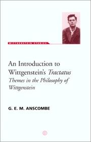 Cover of: An introduction to Wittgenstein's Tractatus by Anscombe, G. E. M.