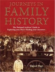 Cover of: Journeys in Family History by David Hey