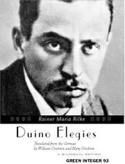 Cover of: Duino Elegies (Green Integer, 93) by Rainer Maria Rilke