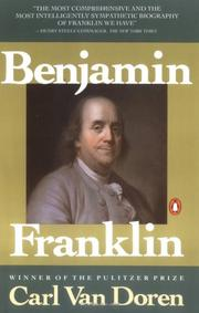 Cover of: Benjamin Franklin by Carl Van Doren