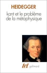 Cover of: Kant und das Problem der Metaphysik by Martin Heidegger