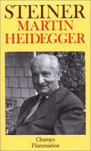 Cover of: Martin Heidegger by George Steiner