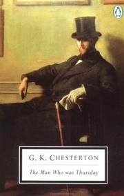Cover of: The Man Who Was Thursday by G. K. Chesterton