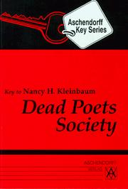 Cover of: Dead Poets Society. Additional texts for study at school. (Lernmaterialien) by Nancy H. Kleinbaum, Hans-Georg Krapf