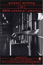 Cover of: Prison Writing in 20th-Century America by