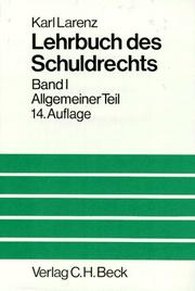 Cover of: Lehrbuch des Schuldrechts