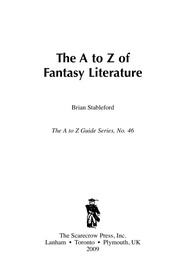 Cover of: The A to Z of fantasy literature | Brian M. Stableford