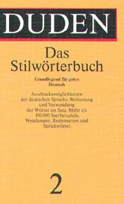 Cover of: Stilworterbuch (Duden Series : Volume 2) | Inc Distribooks