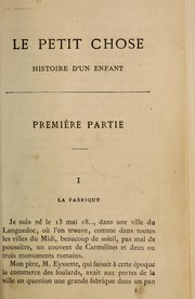 Cover of: Le petit chose | Alphonse Daudet