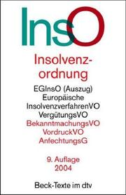 Cover of: Insolvenzordnung