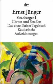 Cover of: Strahlungen I