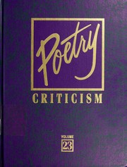 Cover of: Poetry Criticism | Gale Group