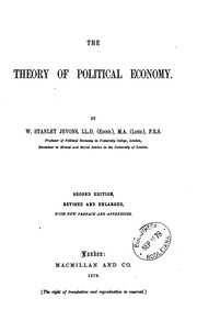 Cover of: The theory of political economy | William Stanley Jevons