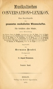 Cover of: Musikalisches Conversations-Lexikon | Hermann Mendel