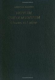 Cover of: Novum Testamentum Graece Et Latine - Greek/Latin New Testament