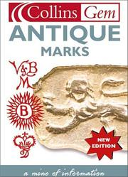 Cover of: Antique Marks (Collins Gems) | Anna Selby