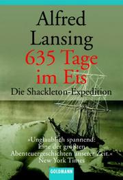 Cover of: 635 Tage im Eis. Die Shackleton- Expedition