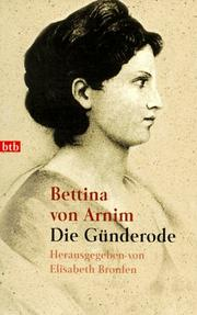 Cover of: Die Gunderode
