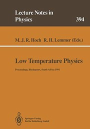 Cover of: Low Temperature Physics | Michael J. R. Hoch