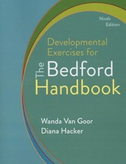 Cover of: Developmental Exercises for The Bedford Handbook | Diana Hacker, Nancy Sommers