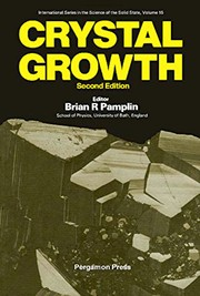 Cover of: Crystal growth