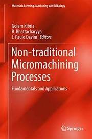 Cover of: Non-traditional Micromachining Processes