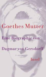 Cover of: Goethes Mutter