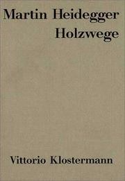 Cover of: Holzwege