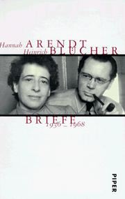 Cover of: Hannah Arendt/Heinrich Blücher: Briefe 1936-1968