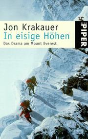 Cover of: In eisige Höhen. Das Drama am Mount Everest