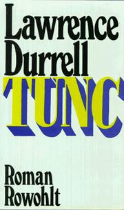 Cover of: Tunc: a novel.